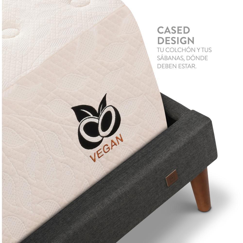 Cama Europea Cic Cocopedic / King / Base Normal + Set De Maderas + Textil image number 5.0