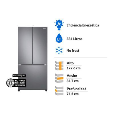 Refrigerador French Door Samsung Rf44a5002s9/zs / No Frost / 431 Litros