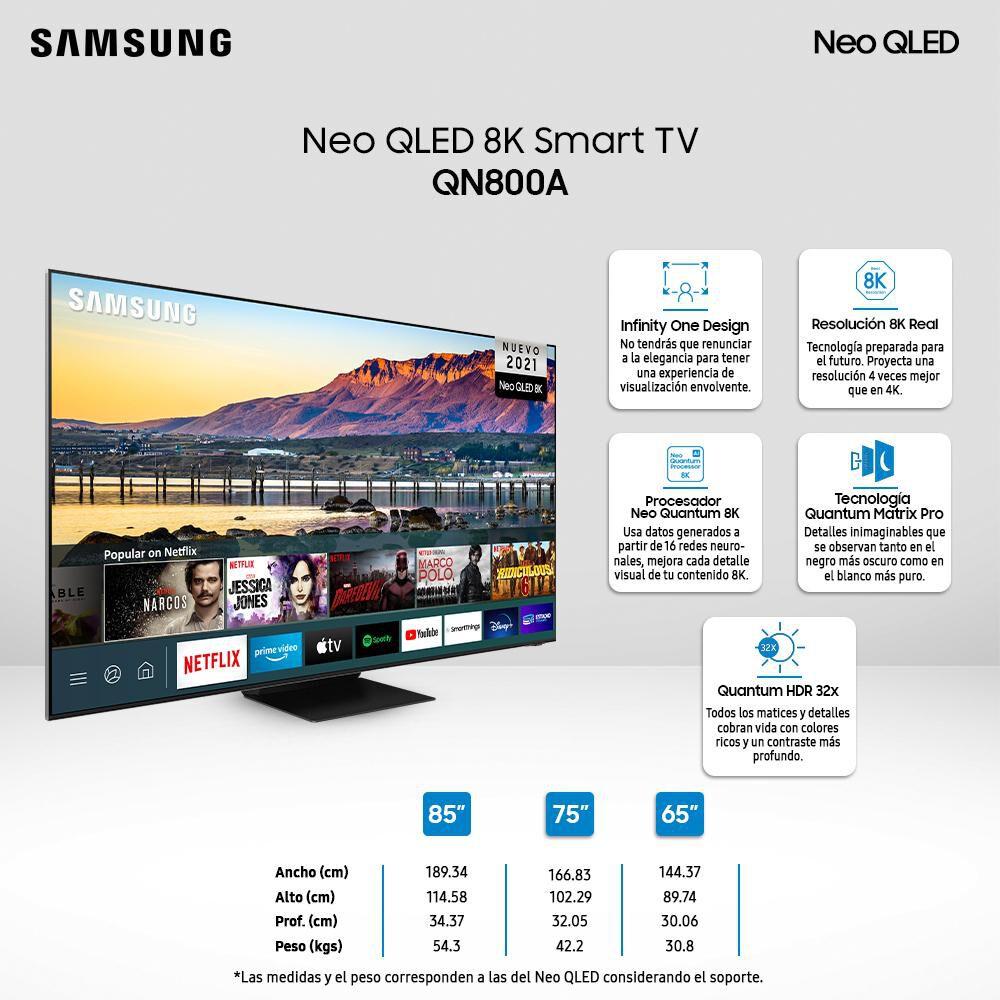 """Qled Samsung QN800A / 65 """" / 8k / Smart Tv image number 2.0"""