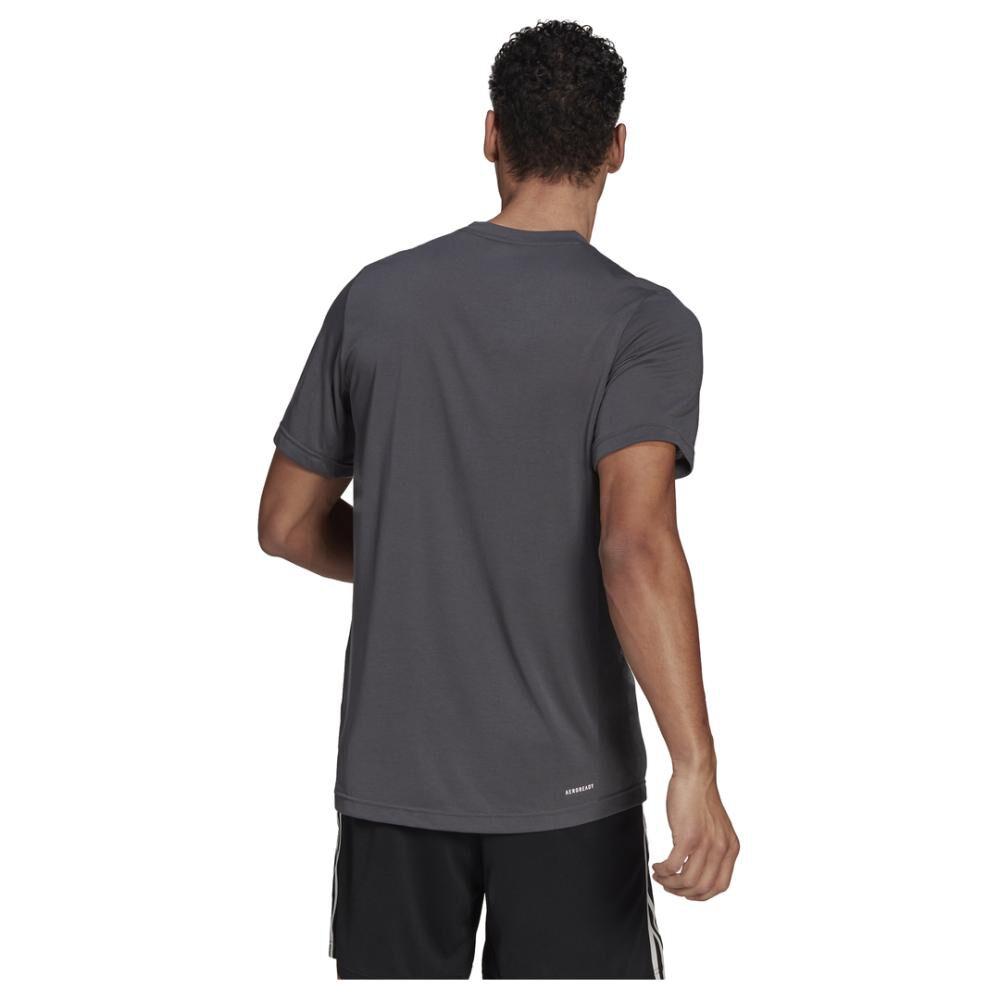 Polera Hombre Adidas D2m Feelready Logo T-shirt image number 2.0