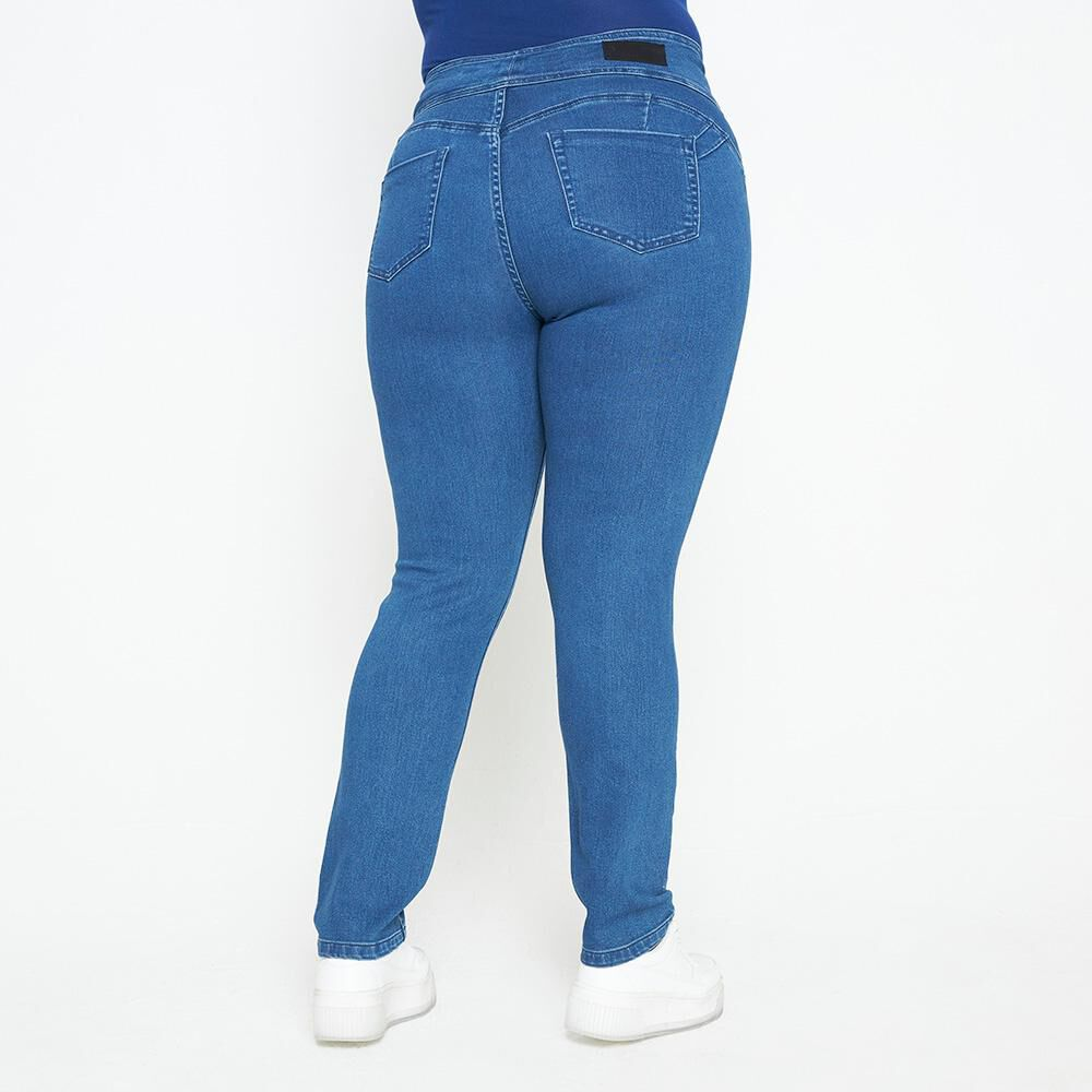 Jeans Mujer Tiro Alto Recto Push up Sexy large image number 2.0