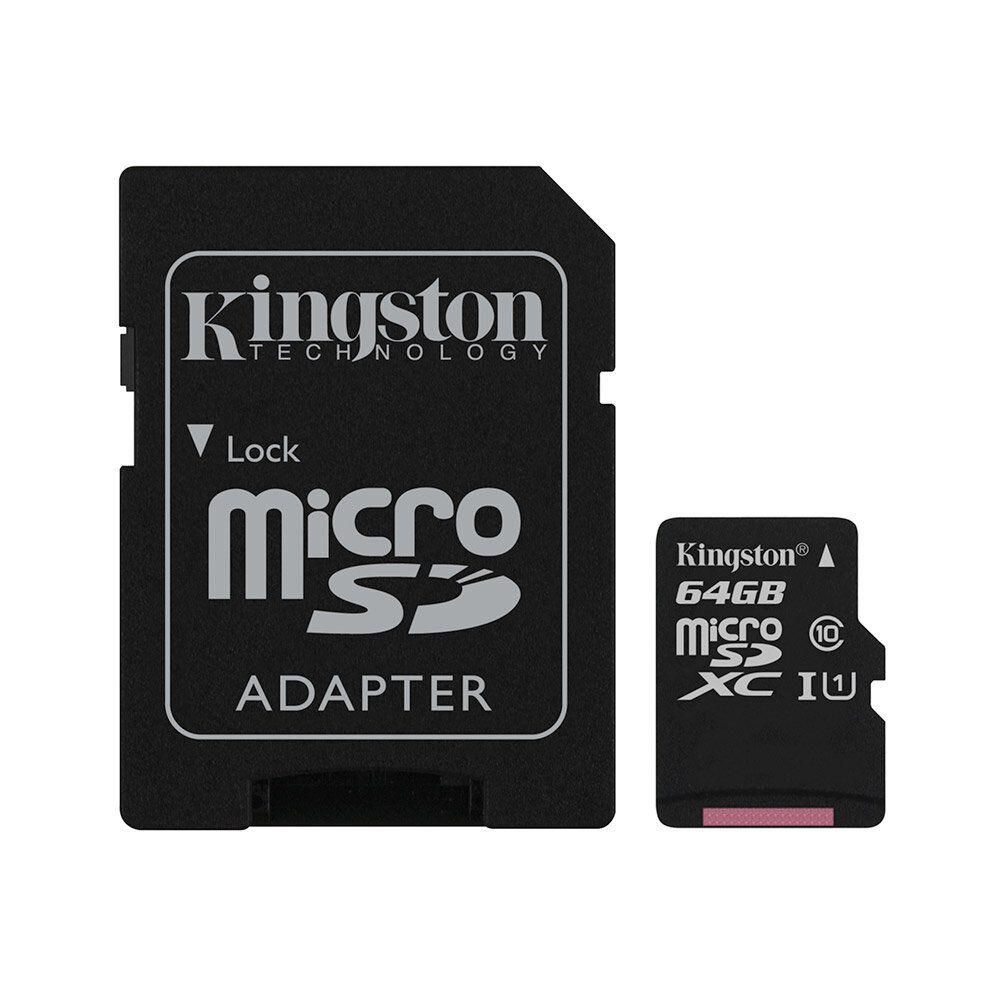Tarjeta Micro Sd Kingston Canvas 64 Gb / Clase 10 image number 0.0
