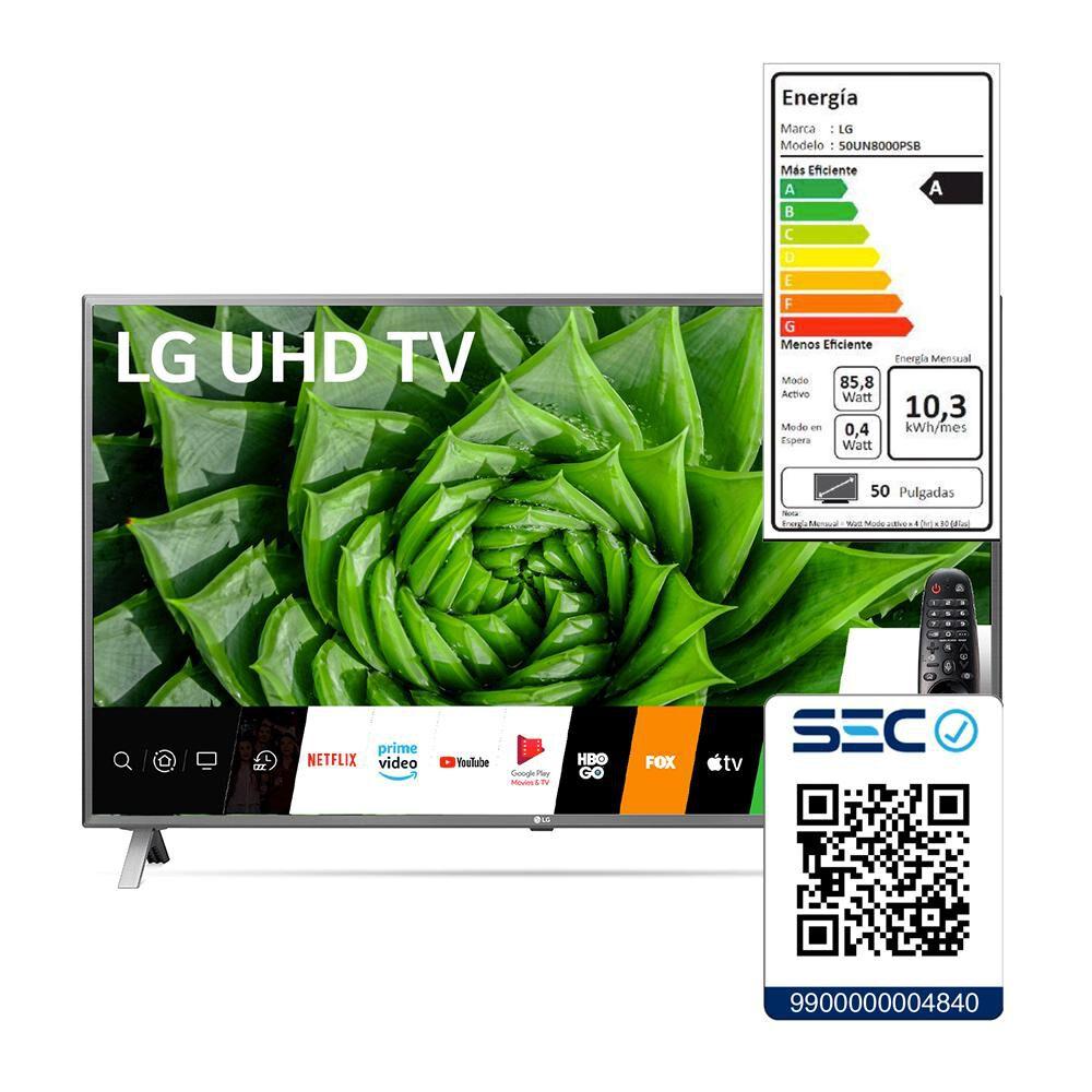 """Led LG 50UN8000 / 50"""" / Ultra Hd 4K / Smart Tv 2020 image number 7.0"""