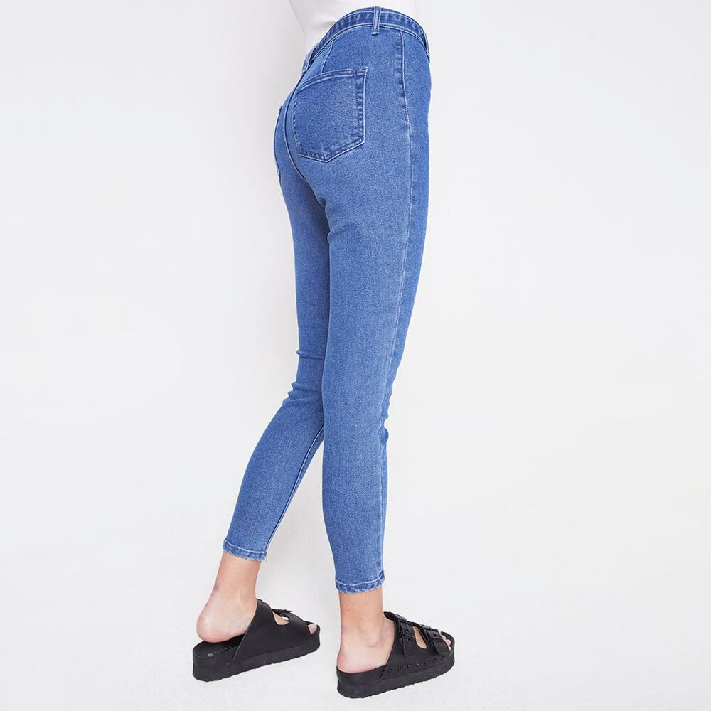 Jeans Tiro Alto Mujer Freedom image number 2.0