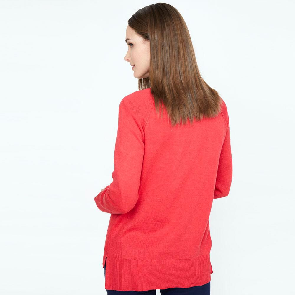 Sweater Liso Largo Mujer Geeps image number 2.0