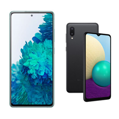 Samsung S20FE Verde + Samsung A02 Negro