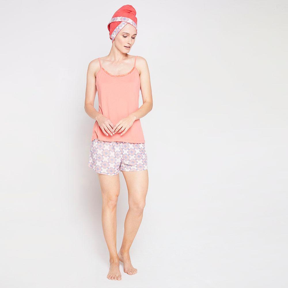 Pack Pijama + Toalla Pelo Mujer Geeps image number 1.0