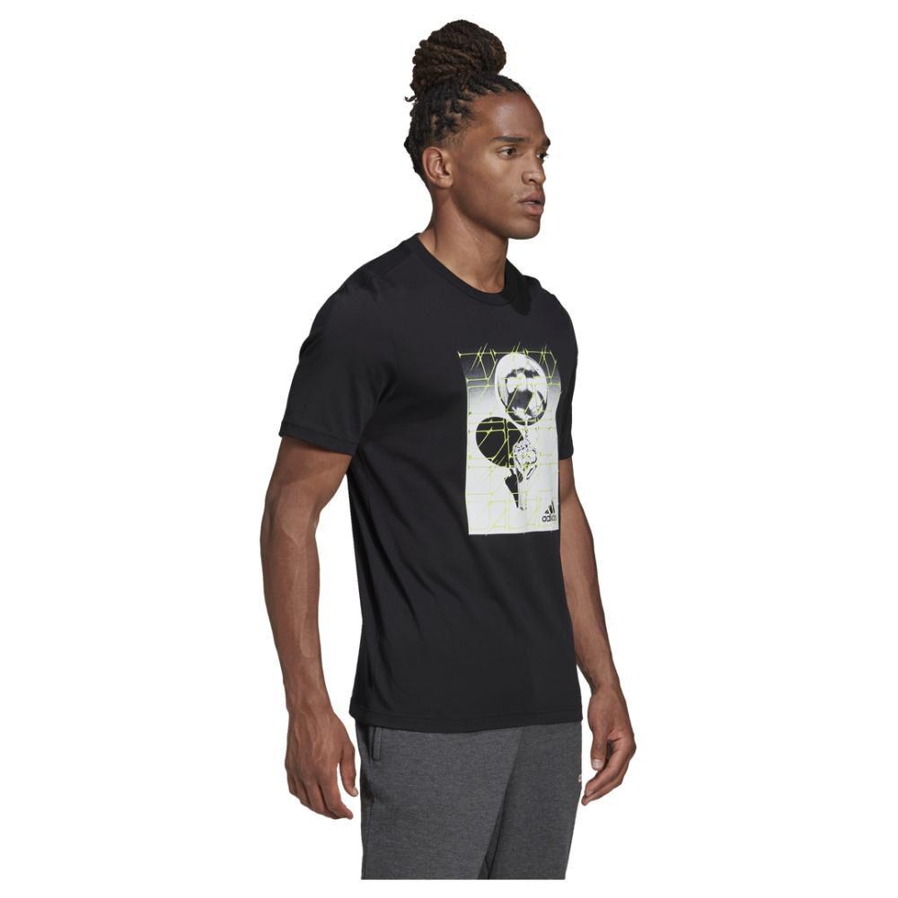 Polera Hombre Adidas M Hyperreal Ballspin Tee image number 5.0