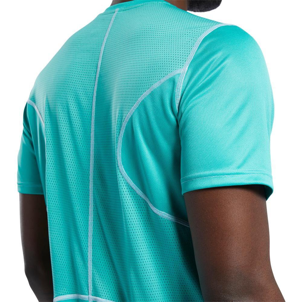 Polera Hombre Reebok Run Essentials Speedwick Short Sleeve Tee image number 4.0