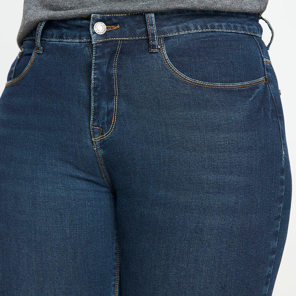 Jeans Tiro Alto Recto Mujer Sexy Large image number 3.0