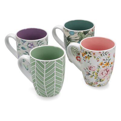 Set De Mug Belle Noite Elegance / 4 Tazones