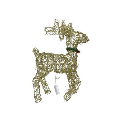 Adorno Navidad Casaideal Reno Navideño Con Luces