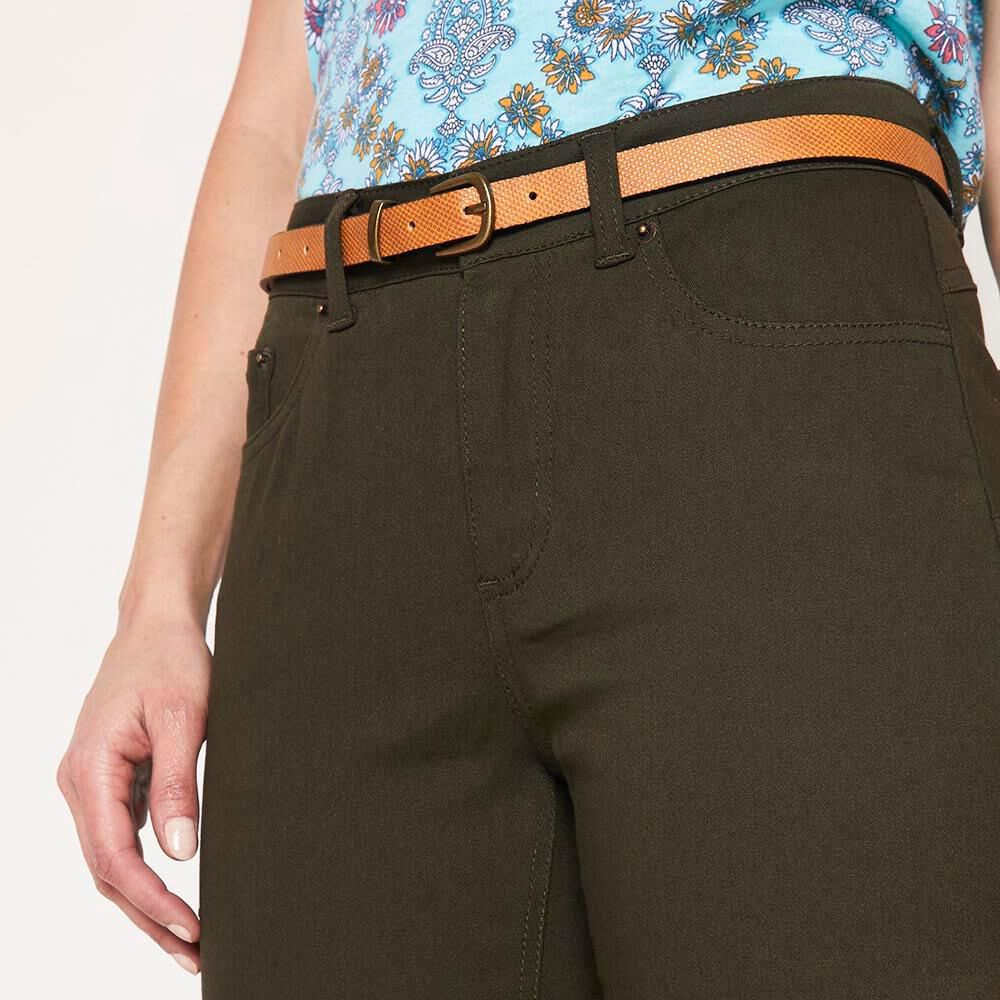 Jeans Recto Con Cinturon Mujer Geeps image number 4.0
