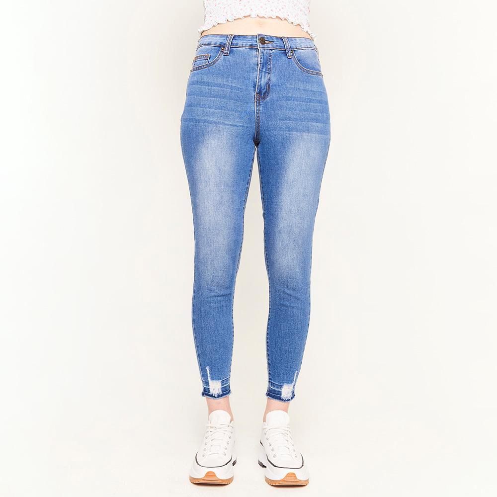 Jeans Rotura Tiro Alto Super Skinny Mujer Freedom image number 0.0