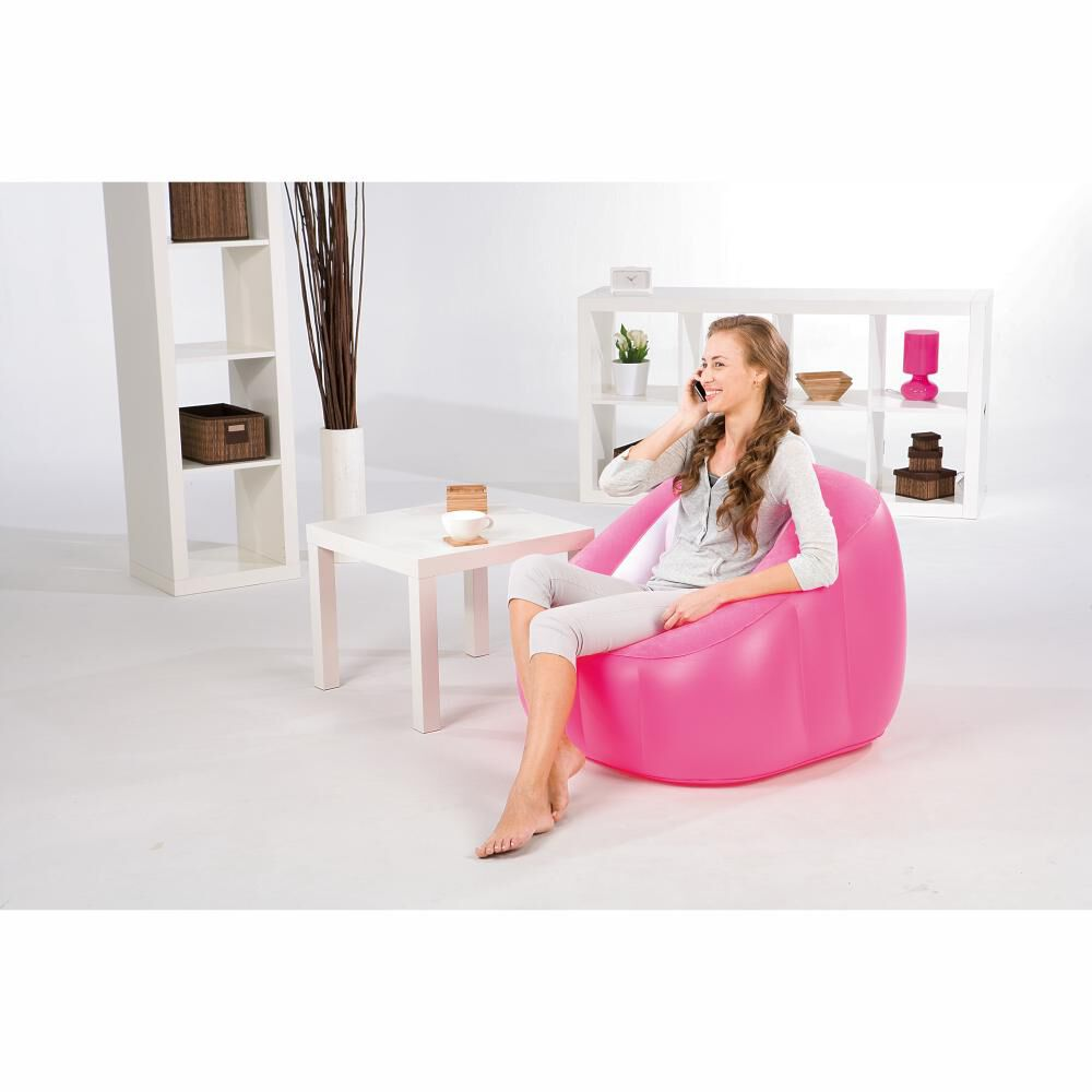 Sillón Inflable Bestway Comfi Cube Rosado / 1 Persona image number 1.0