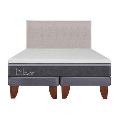 Cama Europea Cic Ortopedic Advance / King / Base Dividida  + Respaldo