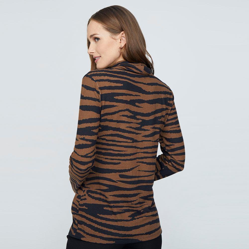 Sweater Estampado Cuello Alto Mujer Lesage image number 2.0
