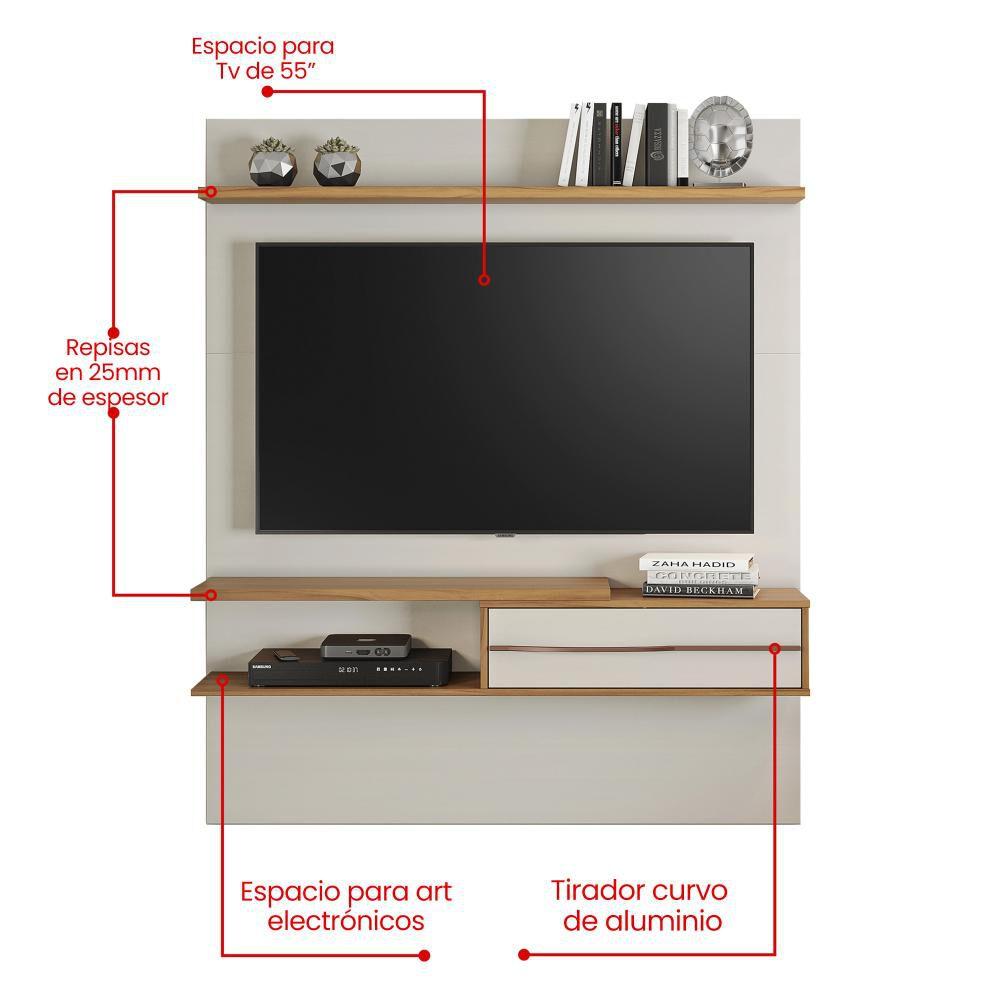 Panel Tv Home Mobili / 1 Cajón image number 4.0