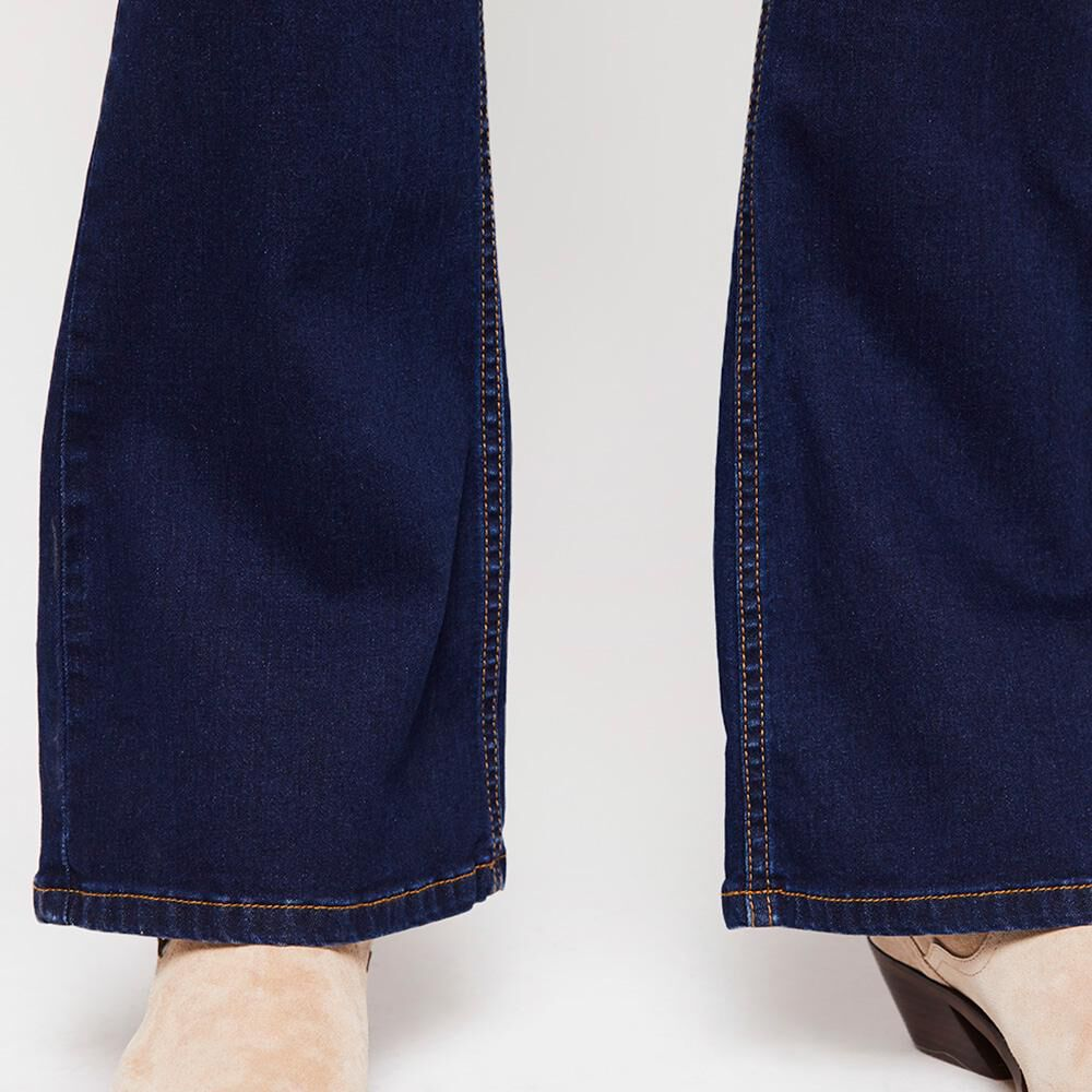 Jeans Mujer Tiro Alto Flare Kimera image number 4.0