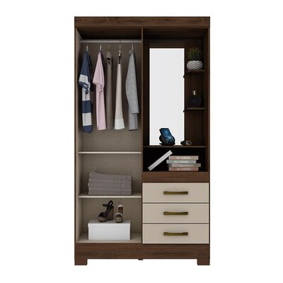 Closet Casaideal B64-111  / 2 Puertas    / 3 Cajones