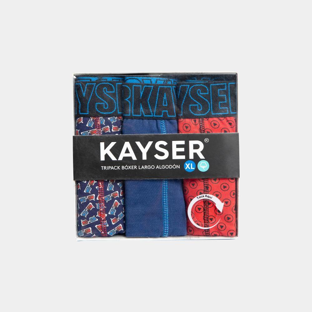 Pack Boxer Largo Hombre Kayser / 3 Unidades image number 0.0