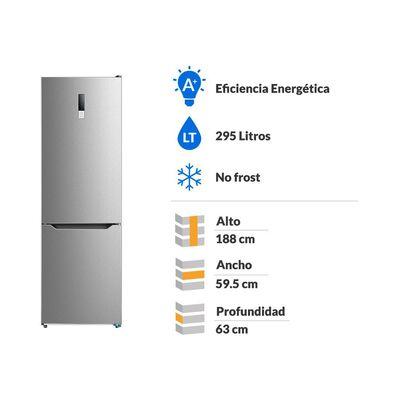 Refrigerador Bottom Freezer Midea MRFI-3000G400RW / No Frost / 295 Litros