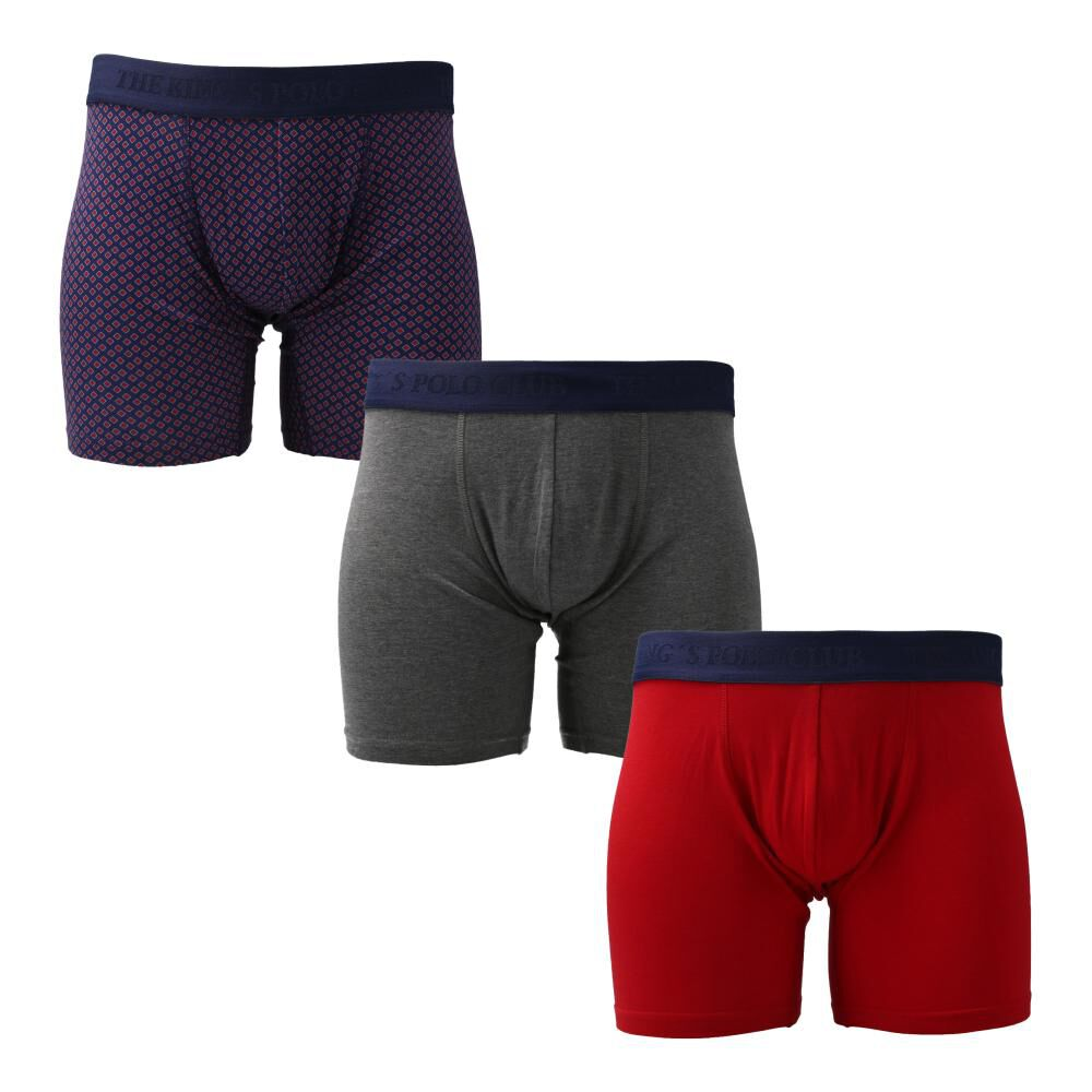 Pack Boxer Clásico Unisex The King's Polo Club / 3 Unidades image number 0.0