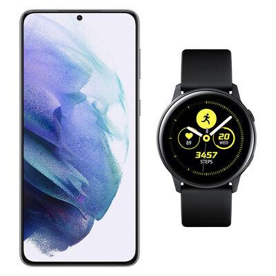 Smartphone Samsung S21 Plus Plateado + Galaxy Active Black