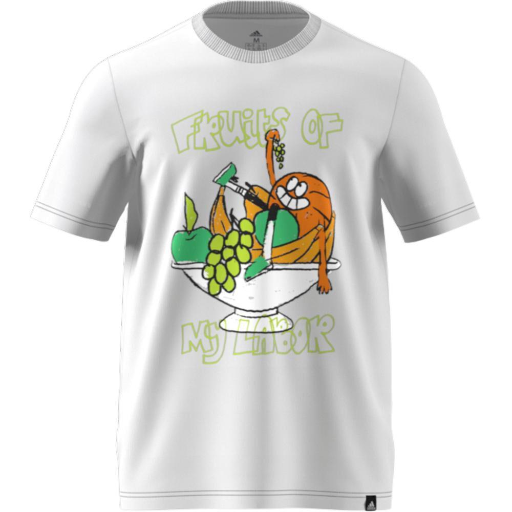 Polera Hombre Adidas Estampado De Frutas Lil Stripe image number 6.0