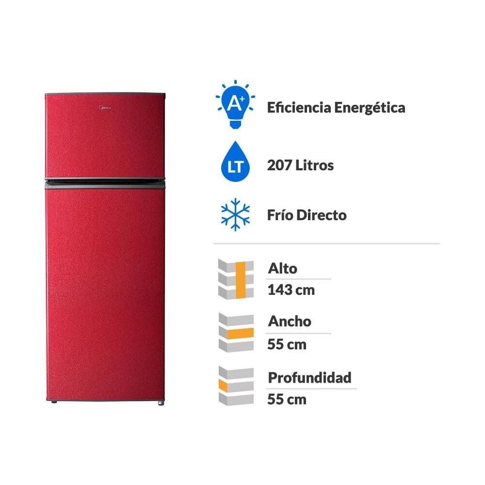 Refrigerador Midea MRFS-2100R273FN / Frío Directo / 207 Litros image number 1.0