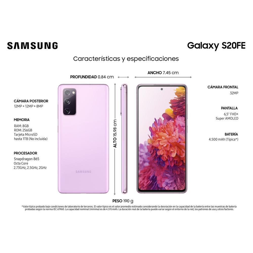 Smartphone Samsung S20fe Morado / 256 Gb / Liberado image number 2.0