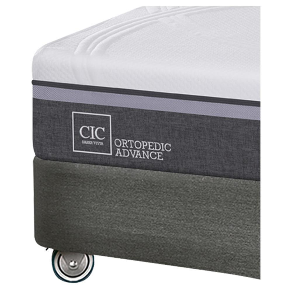 Box Spring Cic Ortopedic Firm / King / Base Dividida  + Set De Maderas image number 3.0