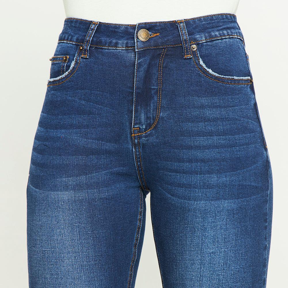 Jeans Lavado Tiro Medio Skinny Mujer Kimera image number 4.0