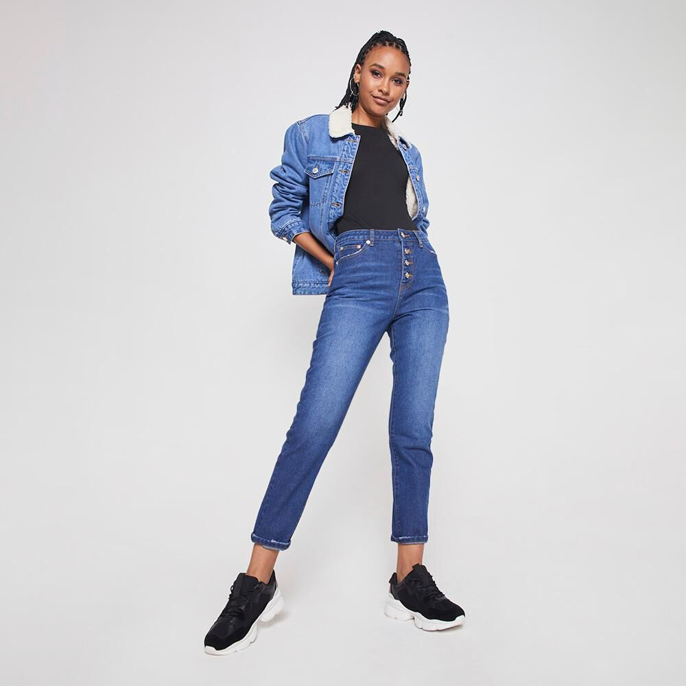 Jeans Mujer Tiro Alto Mom Rolly Go image number 1.0