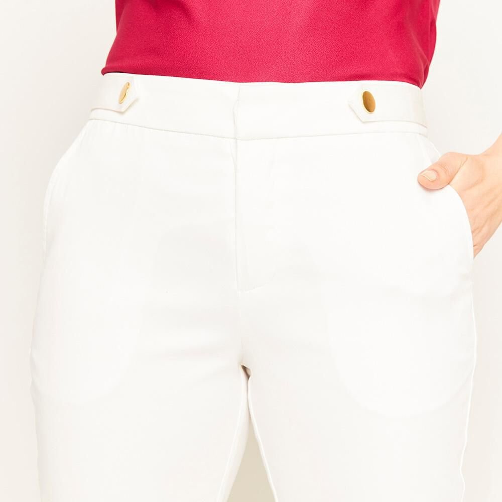 Pantalón Tiro Medio Recto Mujer Lesage image number 3.0