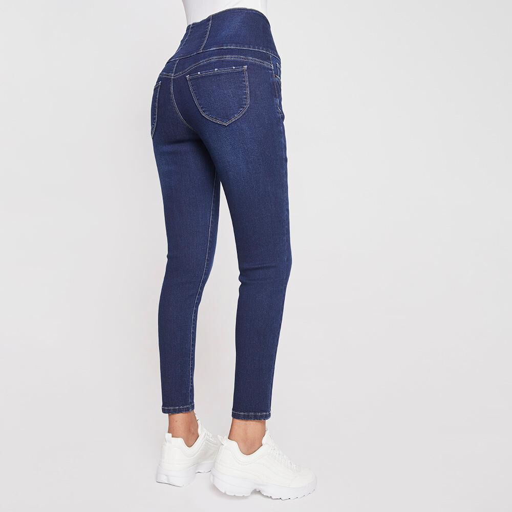 Jeans Mujer Tiro Alto Sculpture Rolly Go image number 2.0