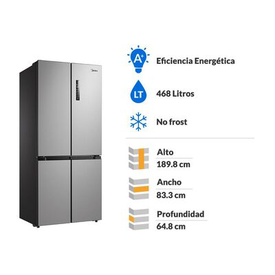 Refrigerador Midea No Frost Mrtt-4790s312fw 468 Litros