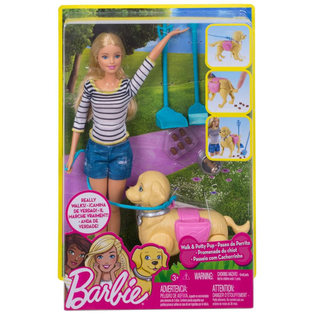 Muñeca Barbie Paseo De Perrito image number 5.0