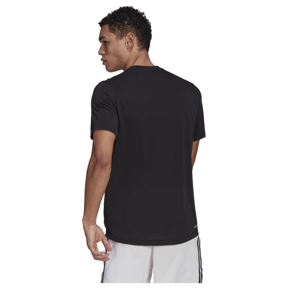 Polera Hombre Adidas D2m Feelready image number 2.0