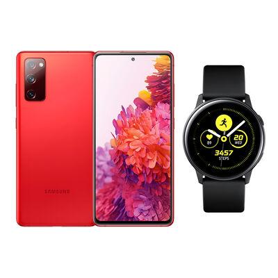 Smartphone Samsung S20 Fe Cloud Red + Galaxy Active Black