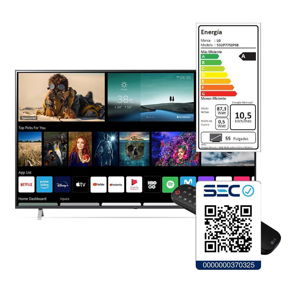 "Led LG 55UP7750PSB / 55 "" / Ultra Hd 4k / Smart Tv image number 7.0"
