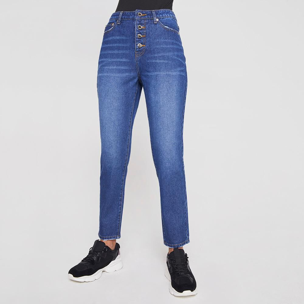 Jeans Mujer Tiro Alto Mom Rolly Go image number 0.0