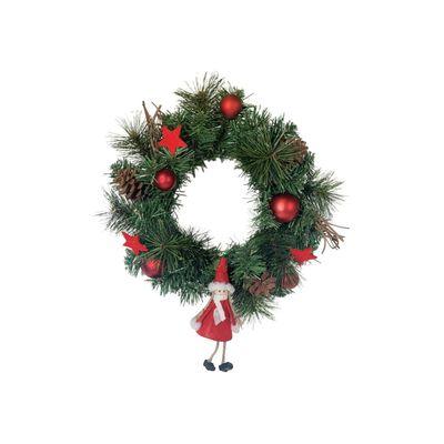 Adorno Navidad Casaideal Corona Navideña Con Cintas