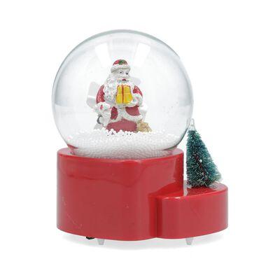 Adorno Navidad Casaideal Bola De Nieve Santa Claus