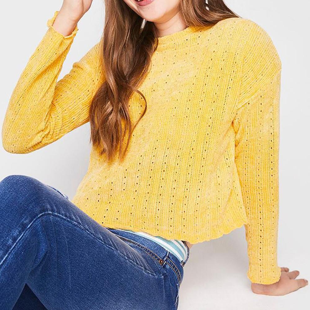 Sweater Tejido Corto Mujer Freedom image number 0.0