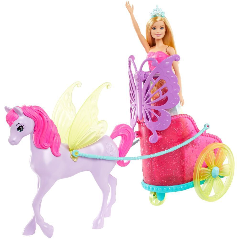 Muñeca Barbie Princesa Con Carruaje image number 1.0