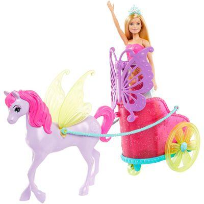 Muñeca Barbie Princesa Con Carruaje