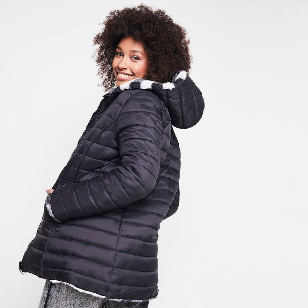 Parka Reversible Mujer Rolly Go image number 5.0