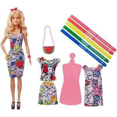 Muñeca Barbie Fashion + Crayola Colorea Tu Estilo