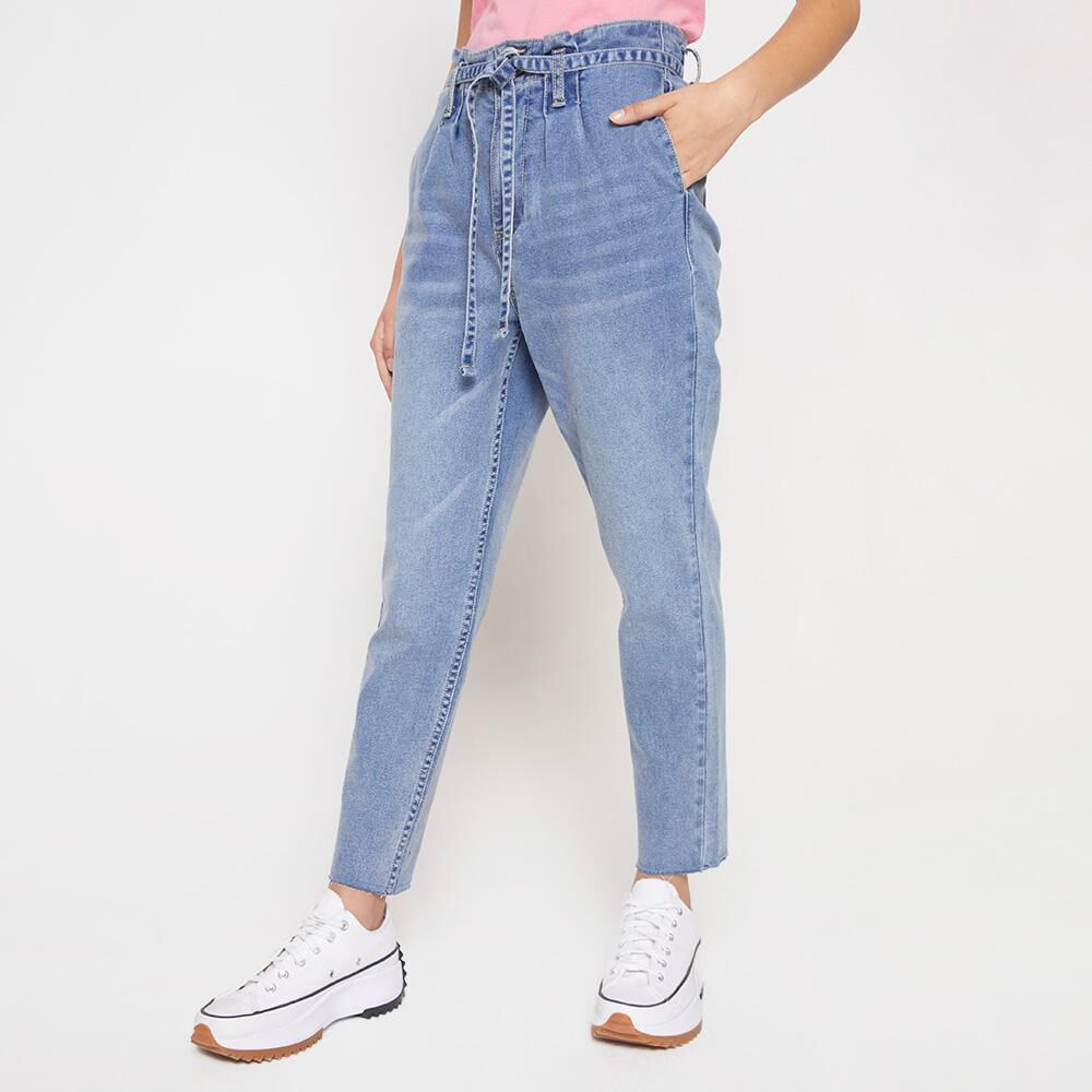 Jeans Mujer Tiro Alto Crop Freedom image number 0.0